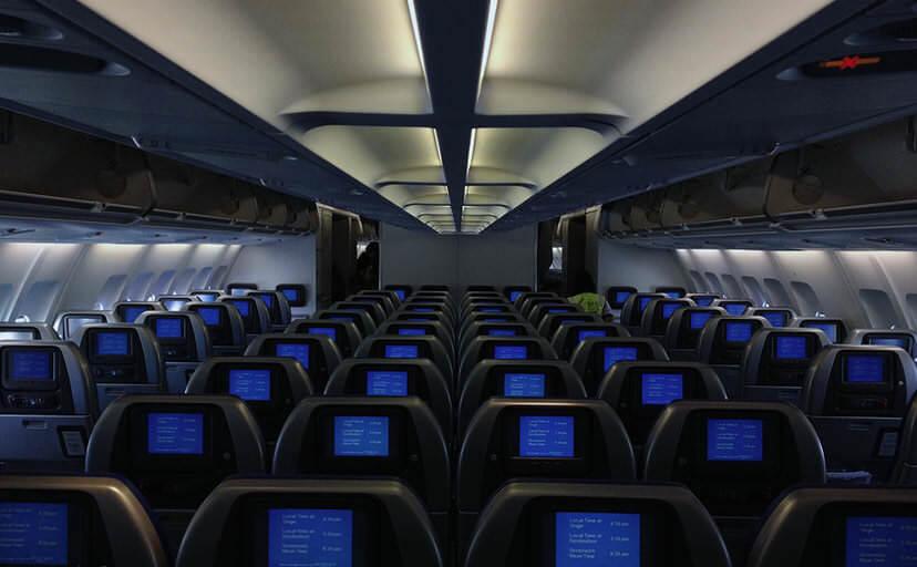 飛行機の座席(フリー写真)