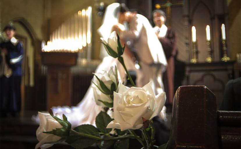 結婚式(フリー写真)