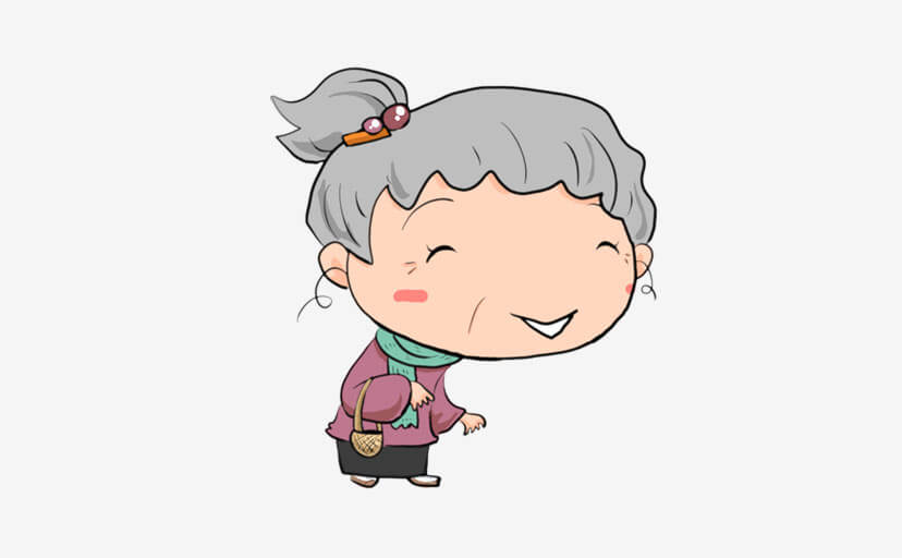 おばあさん(フリー素材)