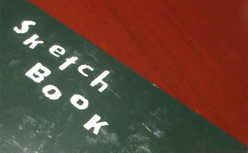 スケッチブック(フリー写真)