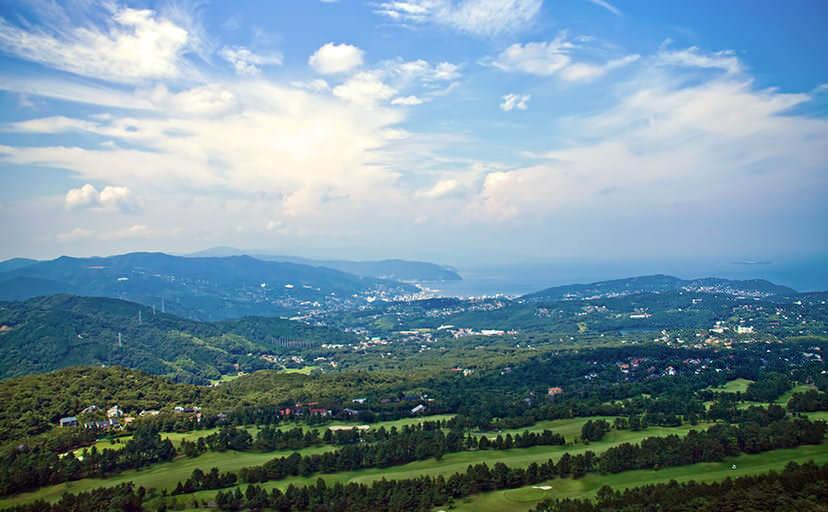 山からの眺め(フリー写真)