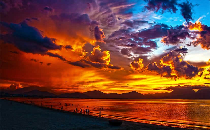 ベトナムの夕日(フリー写真)