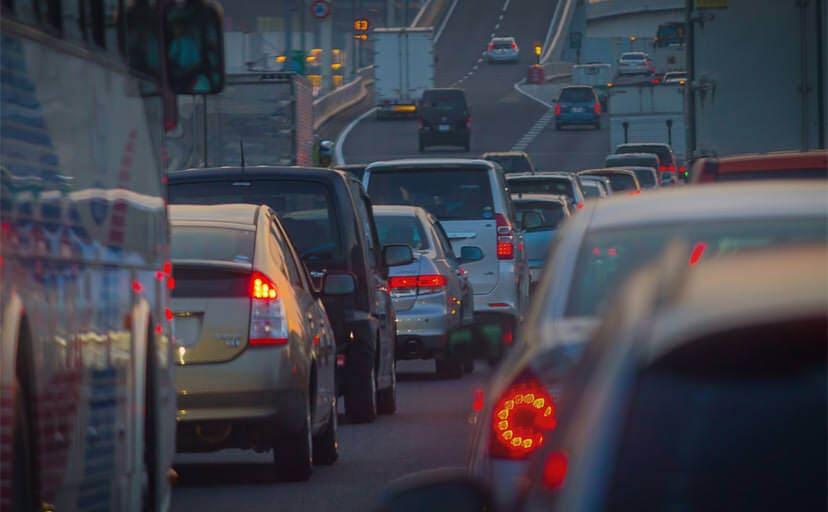 渋滞(フリー写真)
