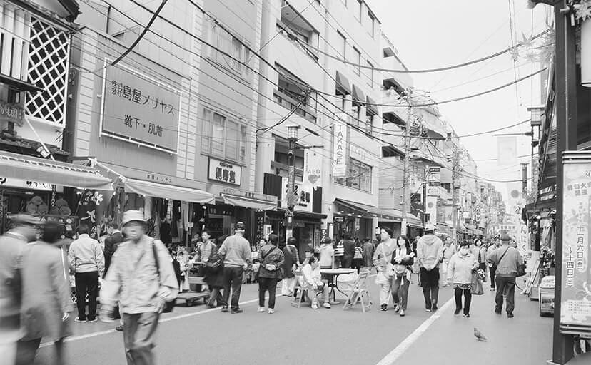 巣鴨の歩行者天国(フリー写真)