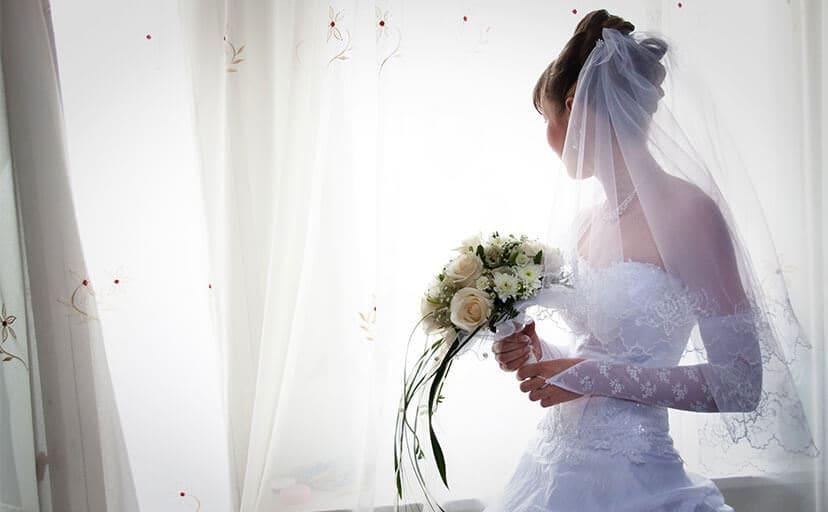 結婚式の花嫁さん(フリー写真)