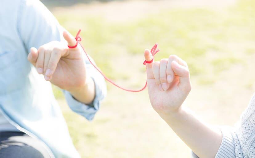 赤い糸(フリー写真)