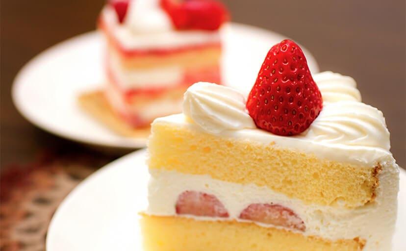 イチゴのショートケーキ(フリー写真)