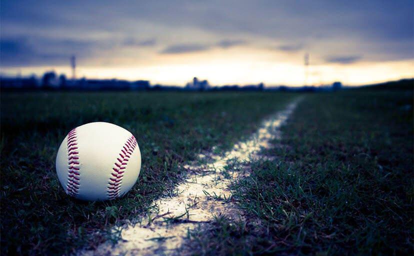 野球のボール(フリー写真)