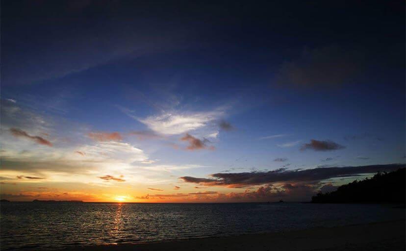パラオのサンセットビーチ(フリー写真)