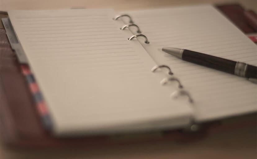 日記帳(フリー写真)