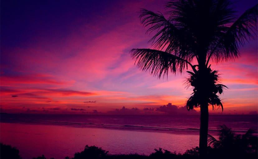 沖縄の夕暮れ(フリー写真)
